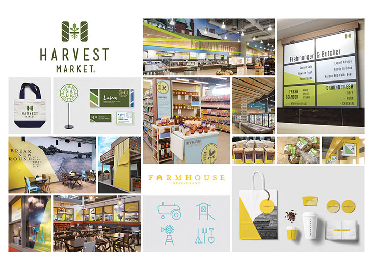 Harvest Market Branding and Identity by Shook Kelley