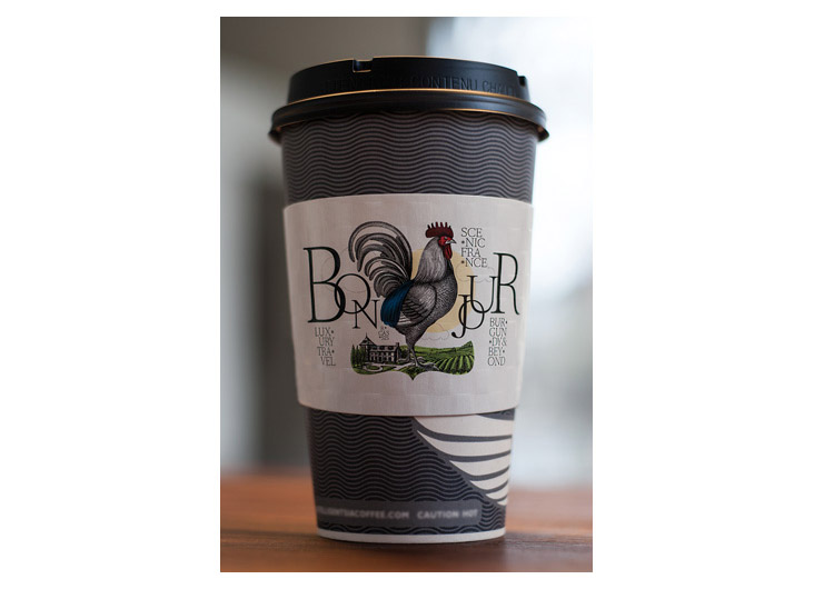 Travel to France Coffee Cup Sleeve by sparc inc.