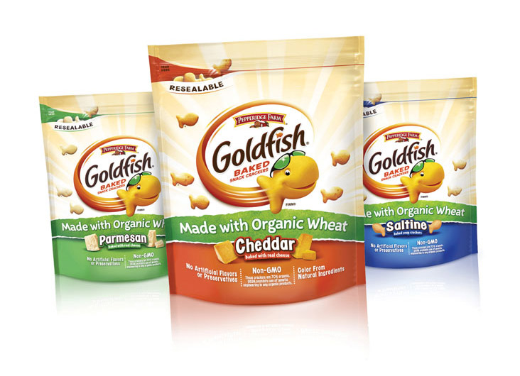 Goldfish Organic Wheat Snack Crackers