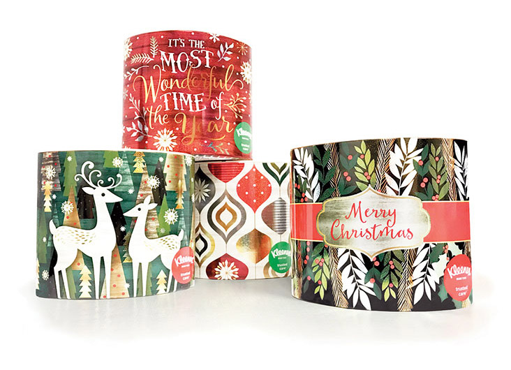 Kleenex Holiday Ovals by Kay James Design