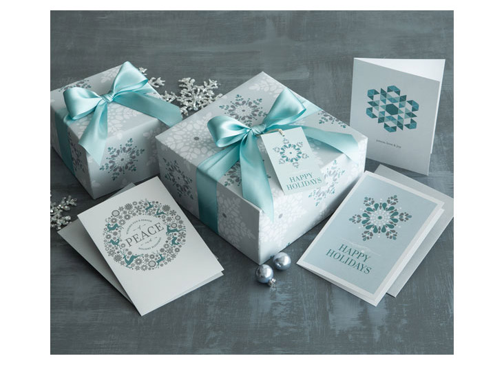 Mint Snowflake Gift Wrap by Design With Heart