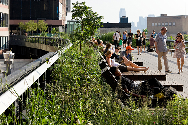 Reclaiming the High Line, a feasibility study that catalyzed efforts to save and reprogram the High Line from a derelict railway to 1.45 miles of open public space enjoyed by millions each year, inspiring other cities to do the same (New York, New York, 2002). Project partner: Friends of the High Line. Photo: Iwaan Baan
