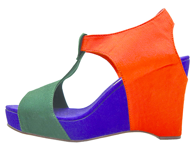 Wedge sandal in tri-color (New York, New York, 2012). Photo: Isabel Asha Penzlien