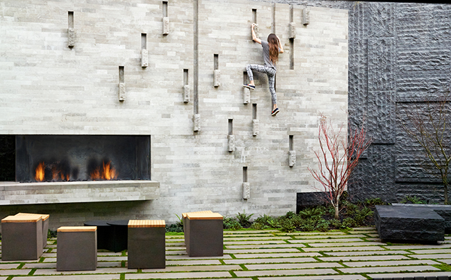 Tank Hill House courtyard garden, creating a serene respite from the city that extends domestic life beyond the home and into the landscape (San Francisco, California, 2017). Photo: Marion Brenner