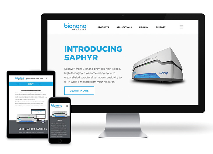Bionano Genomics Website by Russell Creative