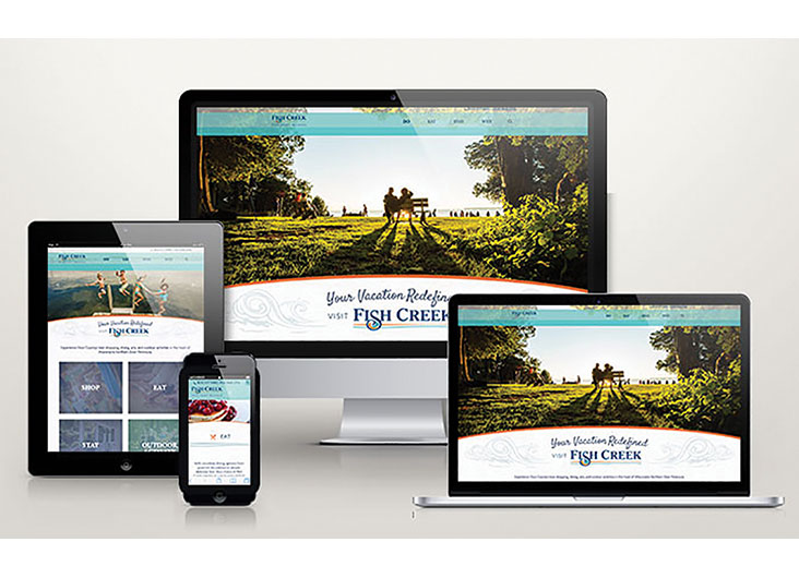 Fish Creek Tourism Website by Signalfire