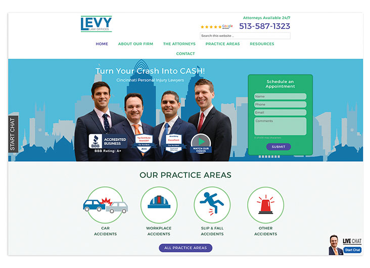 Levy Law Offices Website by GNGF