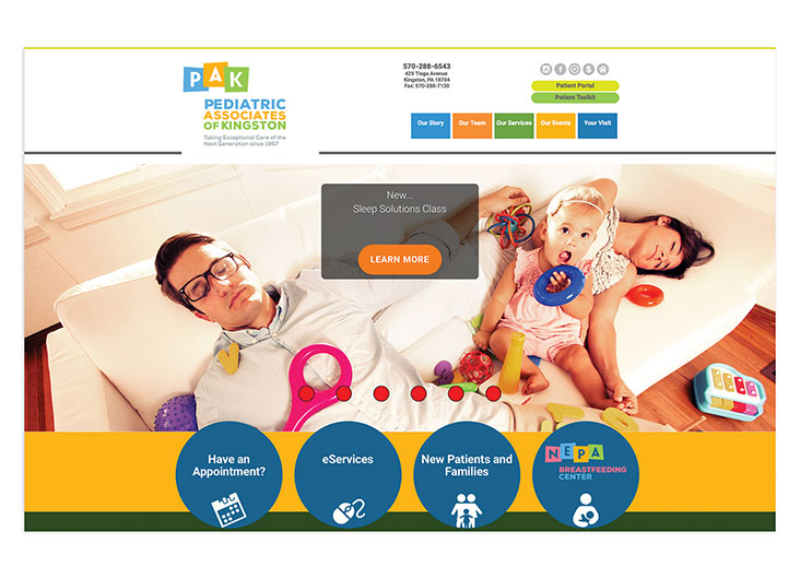 Pediatric Associates of Kingston Website by RemedyConnect/Primary Digital