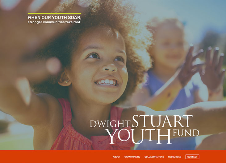 Dwight Stuart Youth Fund Website Art Directors: Kristin Moore, Jenna Schweitzer by Hershey Cause Communications