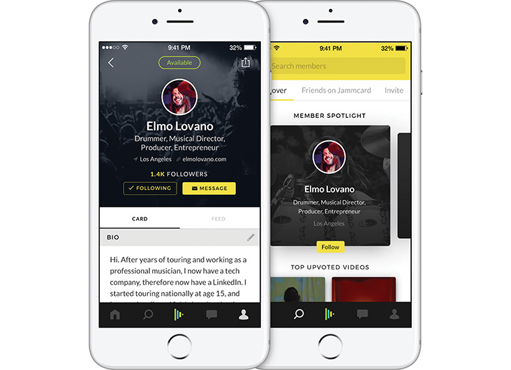 Jammcard App Designers: Ryan Riegner, Eugene Krivoruchko by L+R