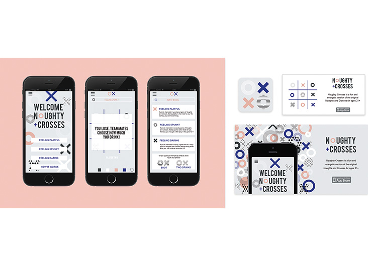 Noughts+Crosses App by School of Advertising Art