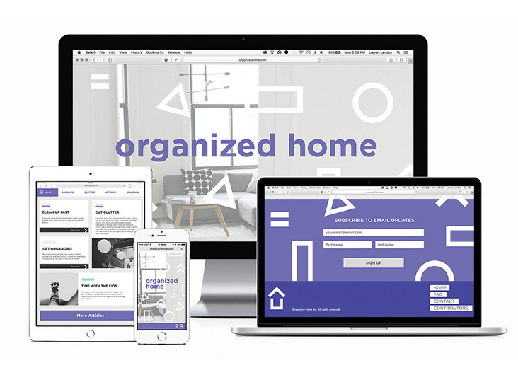 Organized Home Website by School of Advertising Art