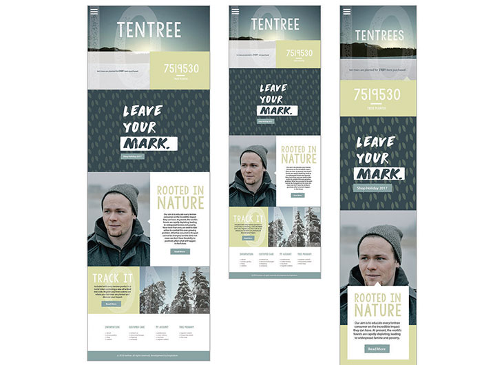 Tentree Website by School of Advertising Art