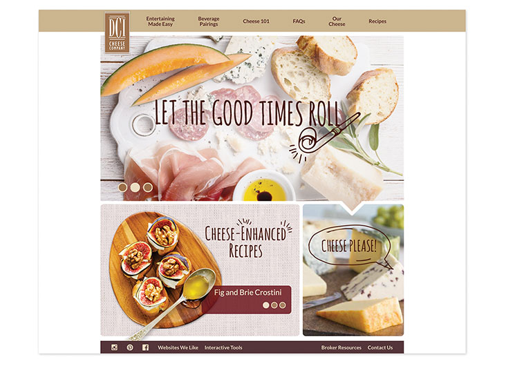 DCI Cheese Co. Website by Saputo Specialty Cheese