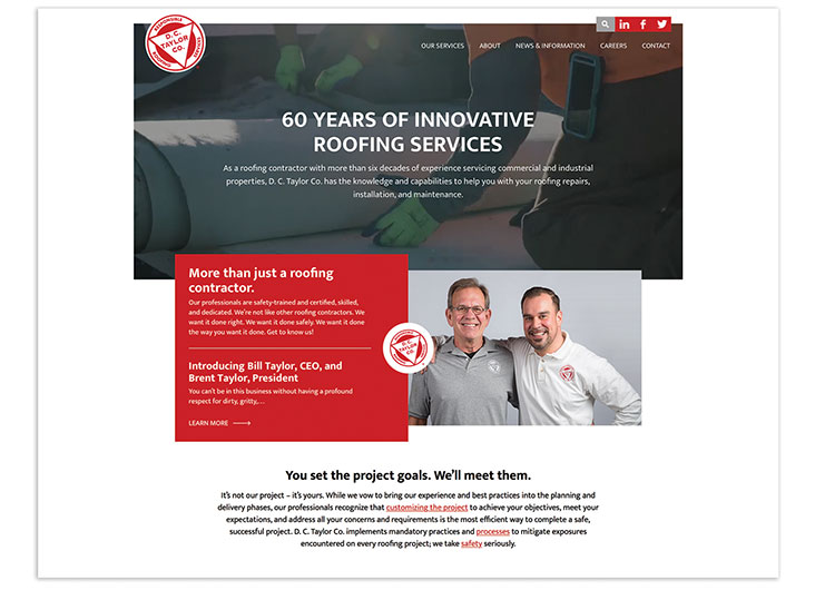 D.C. Taylor Co. Corporate Site by Creative Mellen