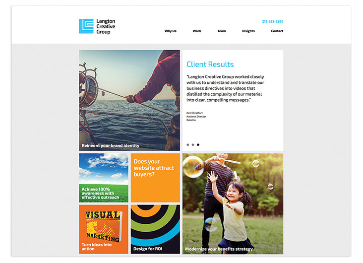 Langton Creative Group Website by Langton Creative Group, Ltd.