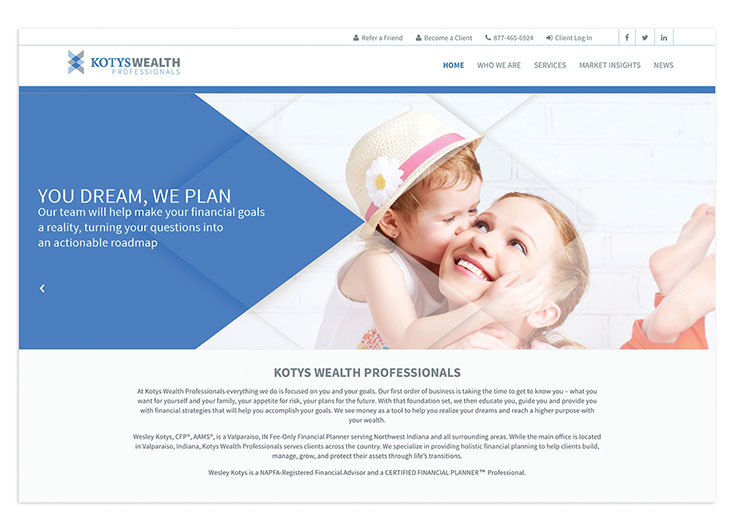 KotysWealthPRO Website by Devarj Design Agency
