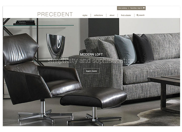 Precedent Furniture Website by 828:design