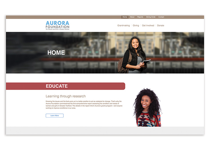 Aurora Foundation Website by The Walker Group, Digital Marketing Solutions