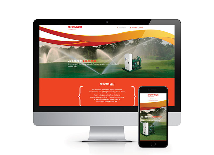 O'Connor Pumps Website by The Walker Group, Digital Marketing Solutions