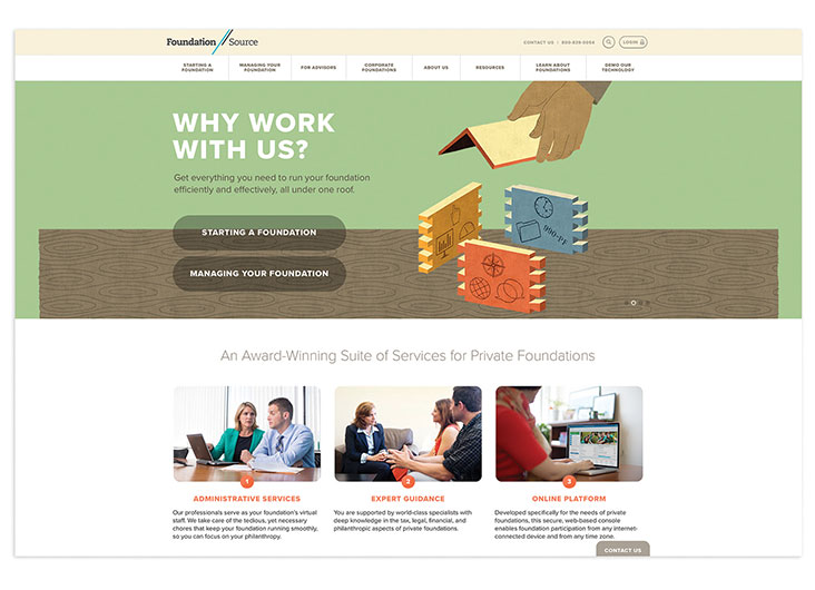 Foundation Source Website by Taylor Design