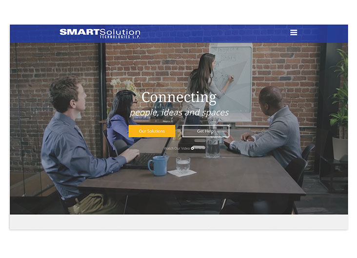 SMARTSolution Technologies Website Redesign by RedTree Web Design