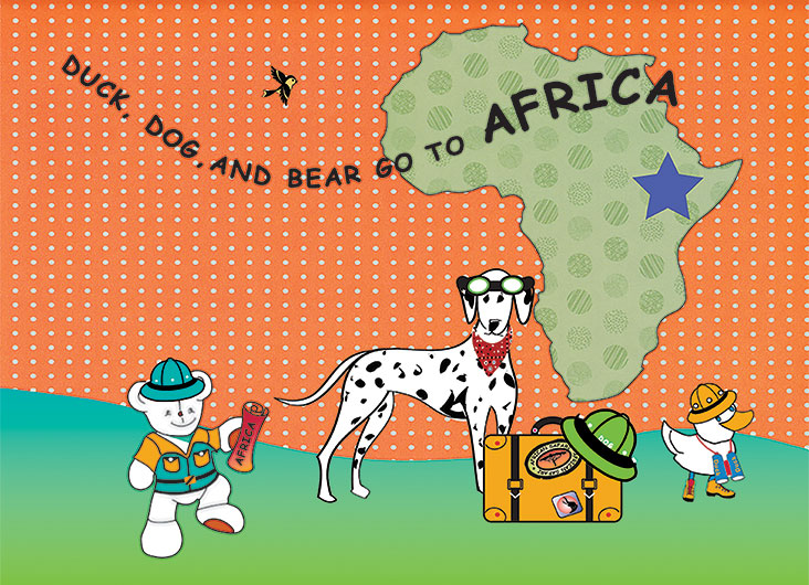 Duck, Dog, and Bear Go To Africa App by Hausman Design and Two Bees Books
