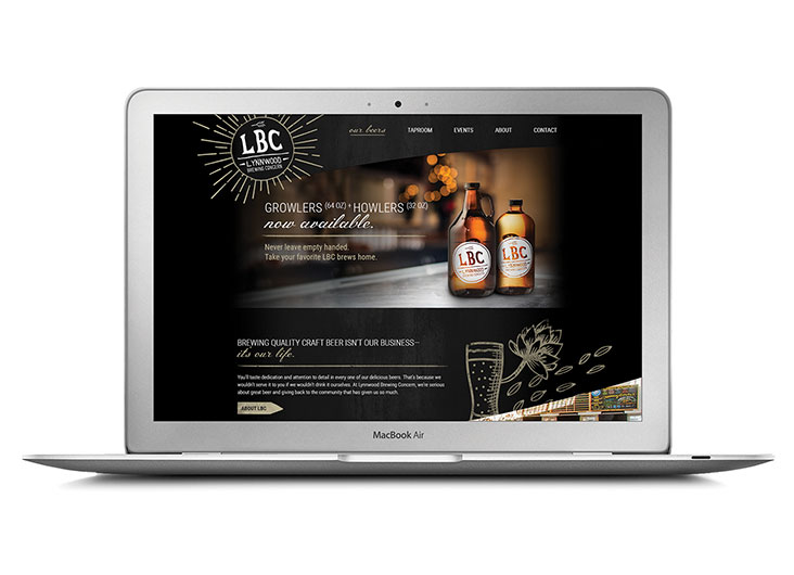 Lynwood Brewing Concern Website by REVERED