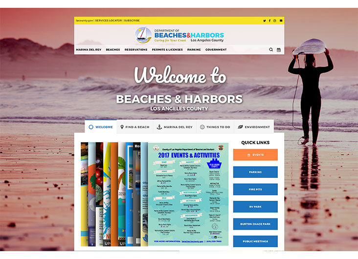 Department of Beaches & Harbors Website by Los Angeles County Department of Beaches & Harbors