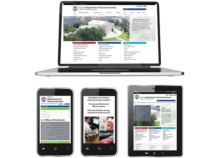Responsive Mobile First Website by Virginia Department of General Services