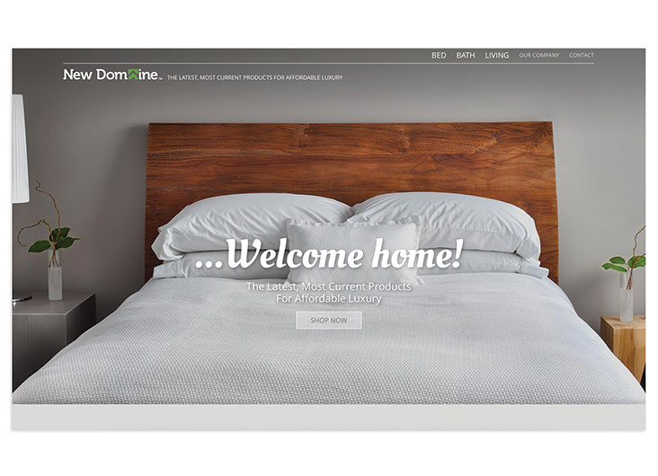 New Domaine Website Custom Design and Code by Design Principles, Inc.