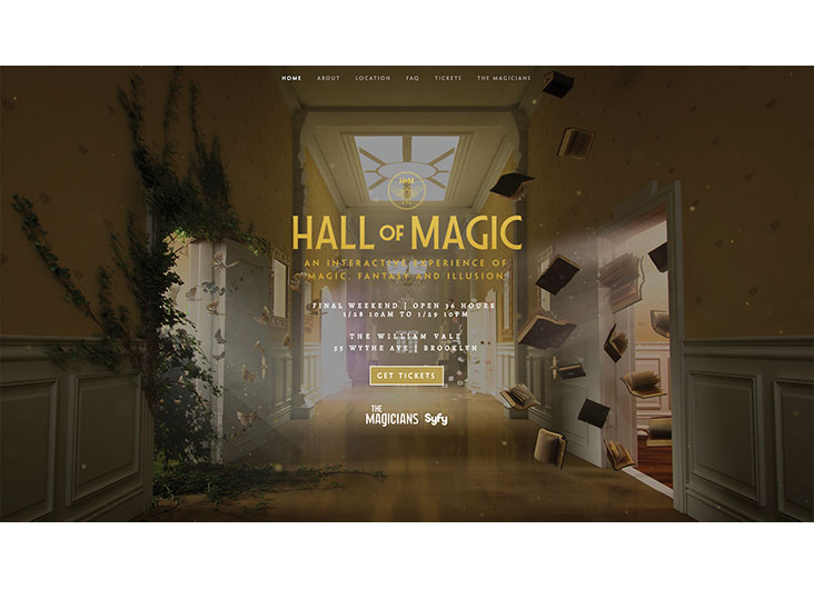 Hall of Magic Event Microsite by York & Chapel