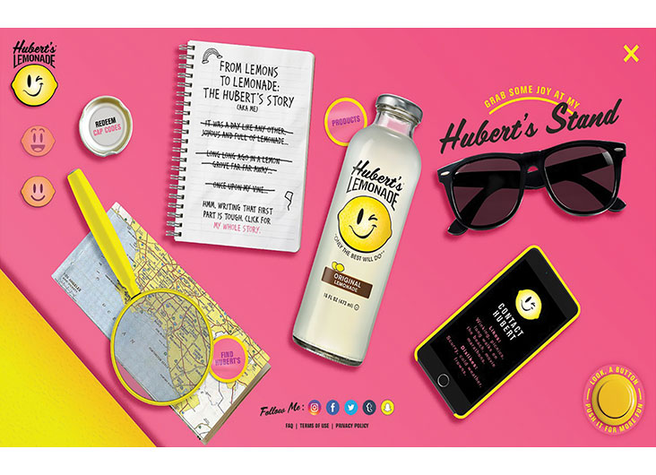 Hubert's Lemonade Interactive Design by LRXD