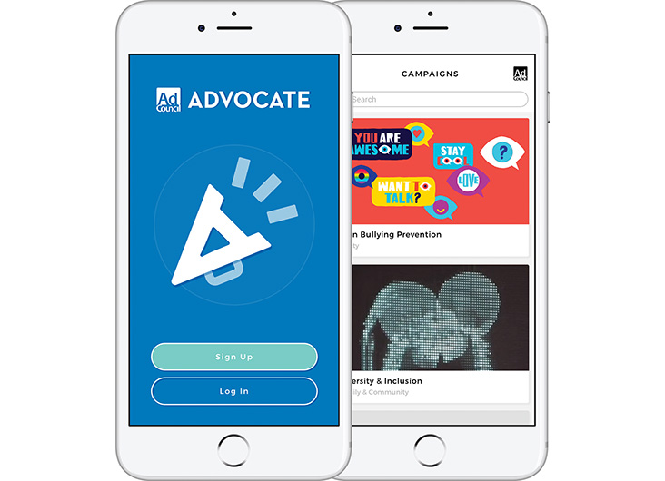 Ad Council Advocate App by L+R