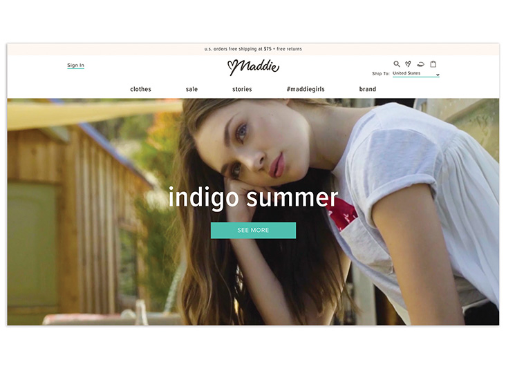 Maddie Style Ecommerce Site by Something Digital