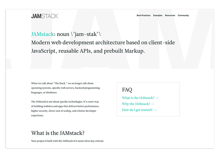 JAMstack - Javascript, APIs, and Markup by Netlify