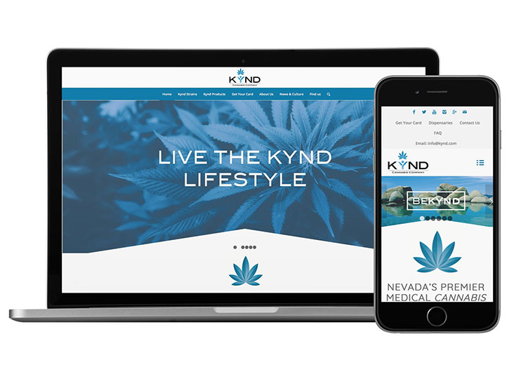 KYND Cannabis Consumer Website by Design on Edge