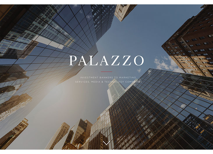 Palazzo - Investment Bankers Website by Creating Digital LLC