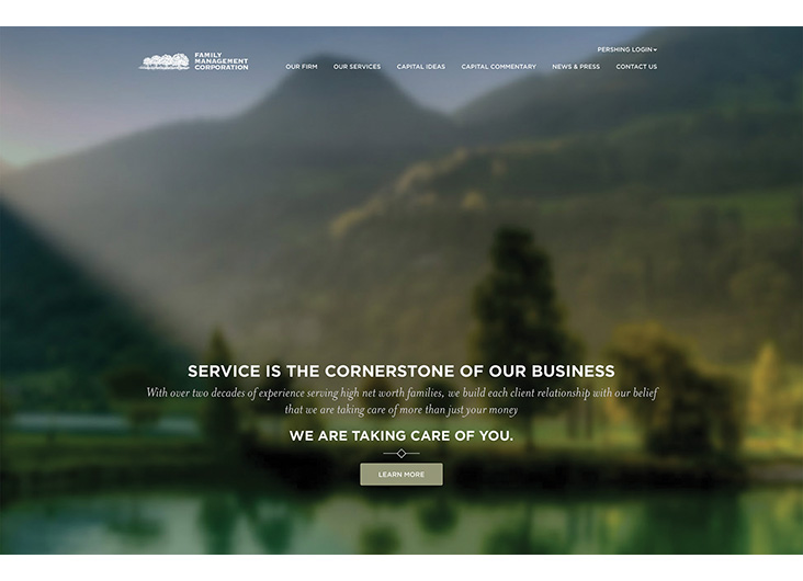 Family Management Corporation Website by Creating Digital LLC