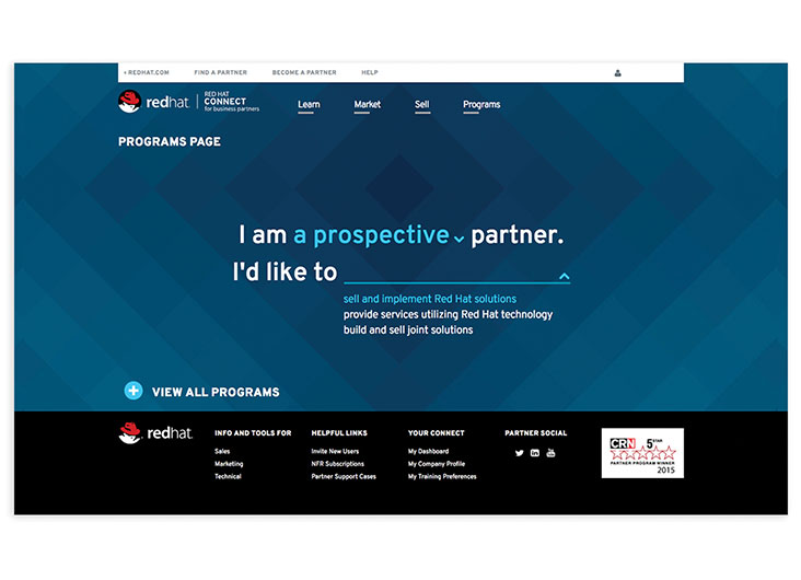 Red Hat Partner Programs Page by Behavior Design