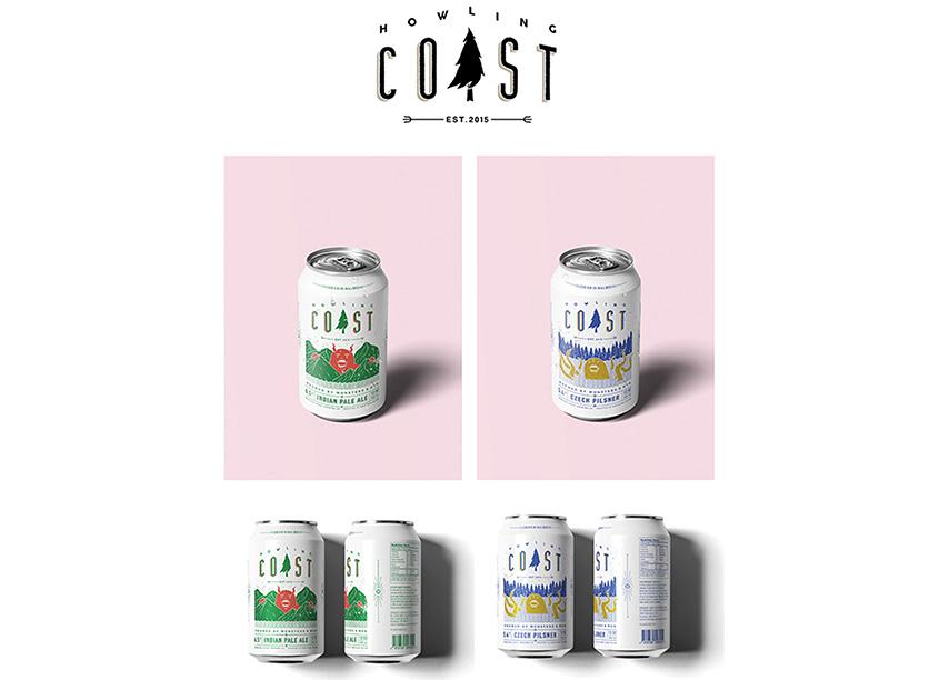 Howling Coast Beer Packaging