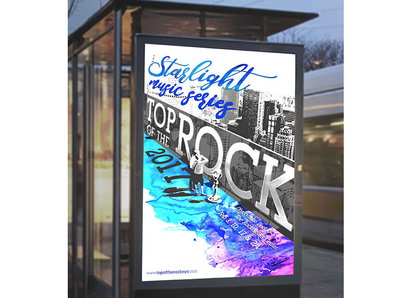 Top of the Rock Poster Design