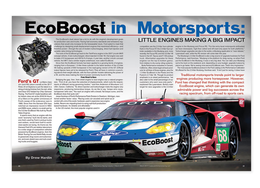 EcoBoost Magazine Spread by Performance Racing Industry