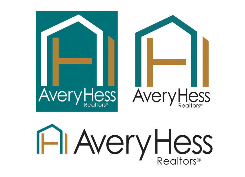 Standard and Stacked Corporate Logos by AveryHess Realtors(R)