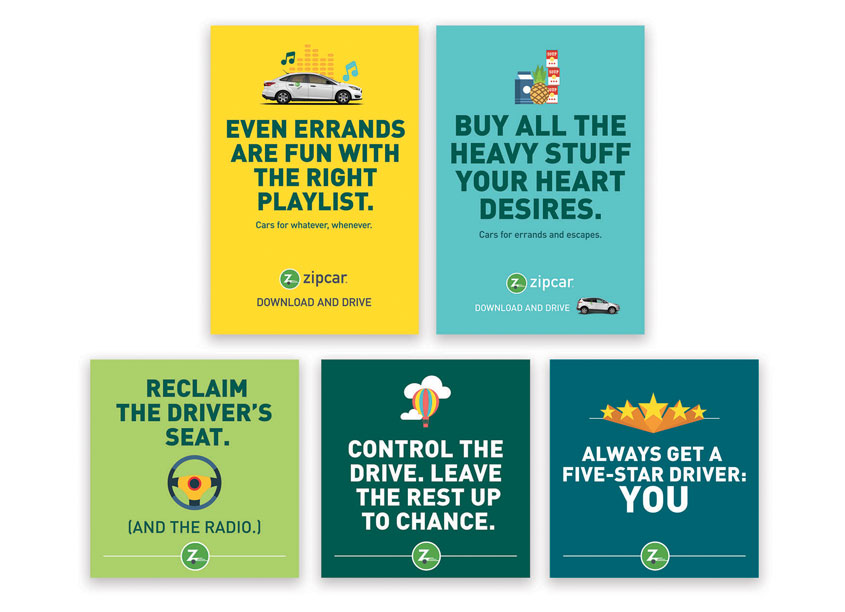Driver's Campaign Posters by Zipcar