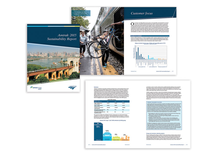 Amtrak 2015 Sustainability Report by Amtrak: National Railroad Passenger Corporation