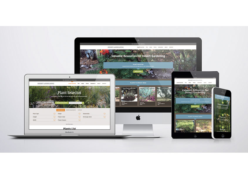 Desert Landscaping Website Design by The University of Arizona, College of Agriculture and Life Sciences
