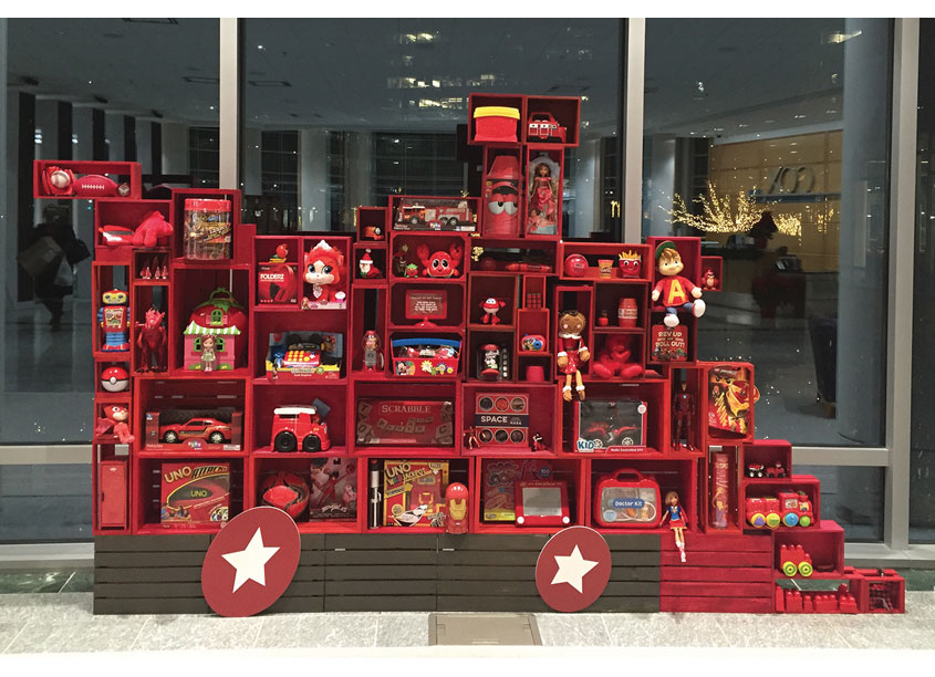 Toys for Tots Display by Cox Enterprises, Inc. - Creative Studio