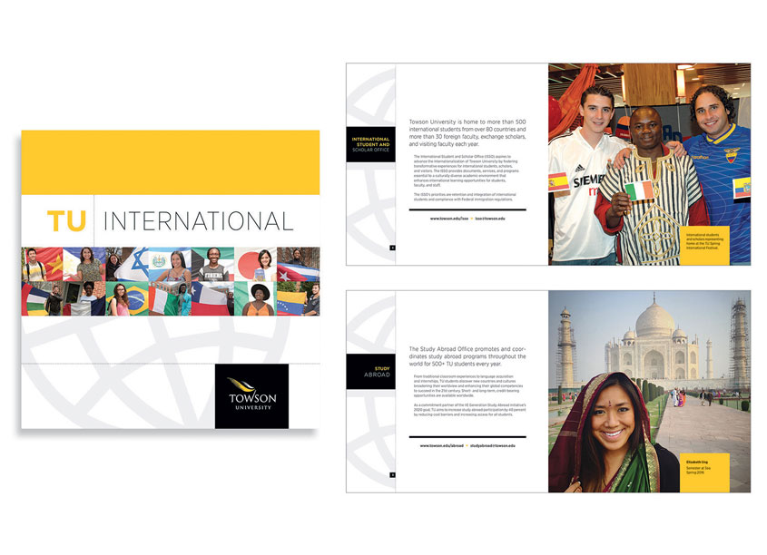 TU International Brochure by Towson University Creative Services