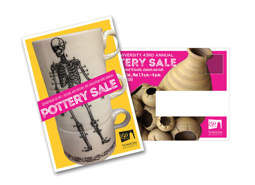 Pottery Sale Postcard by Towson University Creative Services